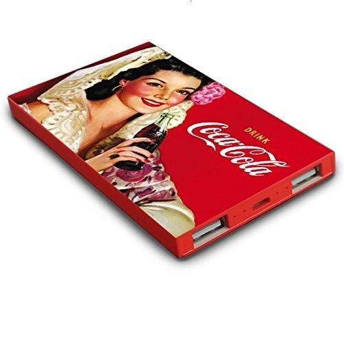 Coca-Cola Power Bank 4000MA Plana USBx2 Acabado P7