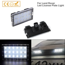 2 lumières de plaque dimmatriculation blanche LED gratuite pour Land Rover Rang Rover Sport discovery 3/4 Freelander 2