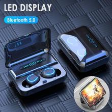 F9 5 беспроводные наушники IPX7 Водонепроницаемый игровая гарнитура работает на все смартфоны Android iOS стерео Bluetooth наушники