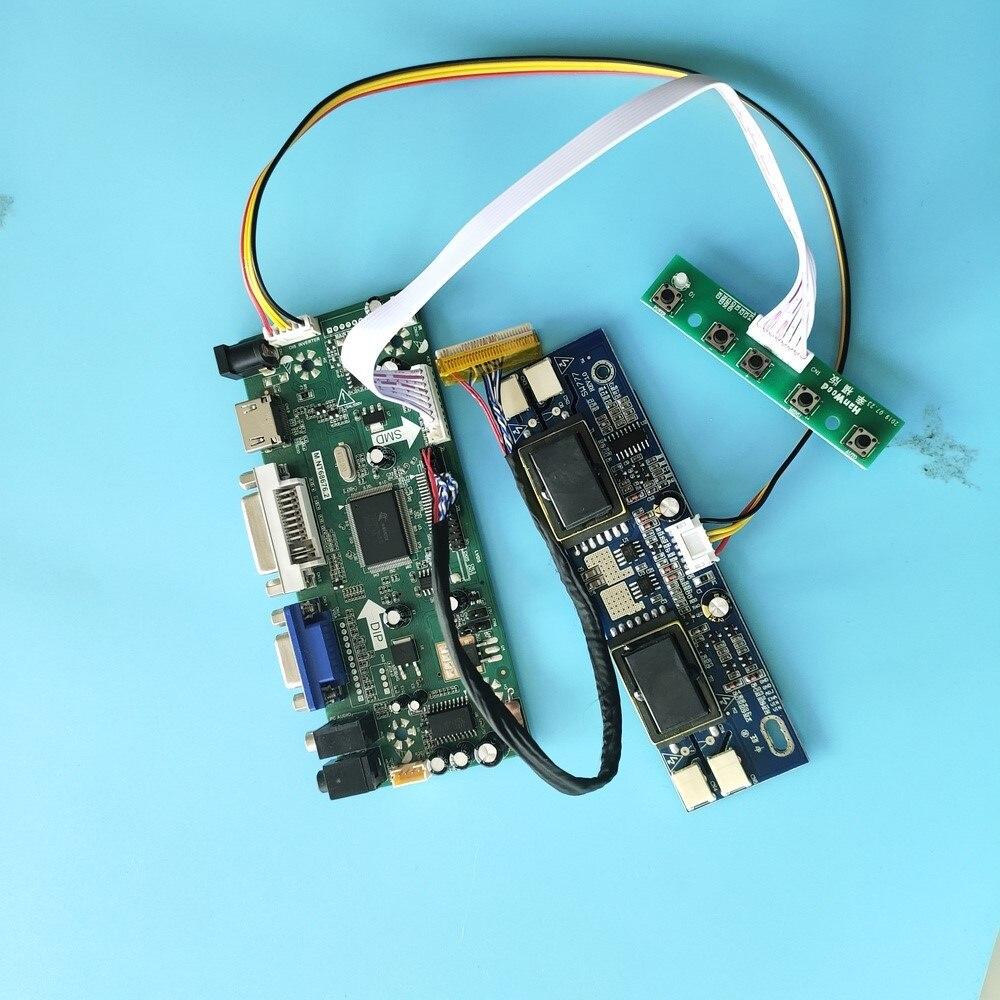 "kit for M190EG02 V3 19"" 30pin LVDS 4 lamps Screen Panel Controller board M.NT68676 DIY VGA DVI HDMI Driver 1280X1024"