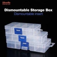 Schweißen Zubehör Storage Tool Box Einstellbar Transparent Kunststoff Werkzeuge Box für Terminal Kleine Komponente Schmuck Organizer