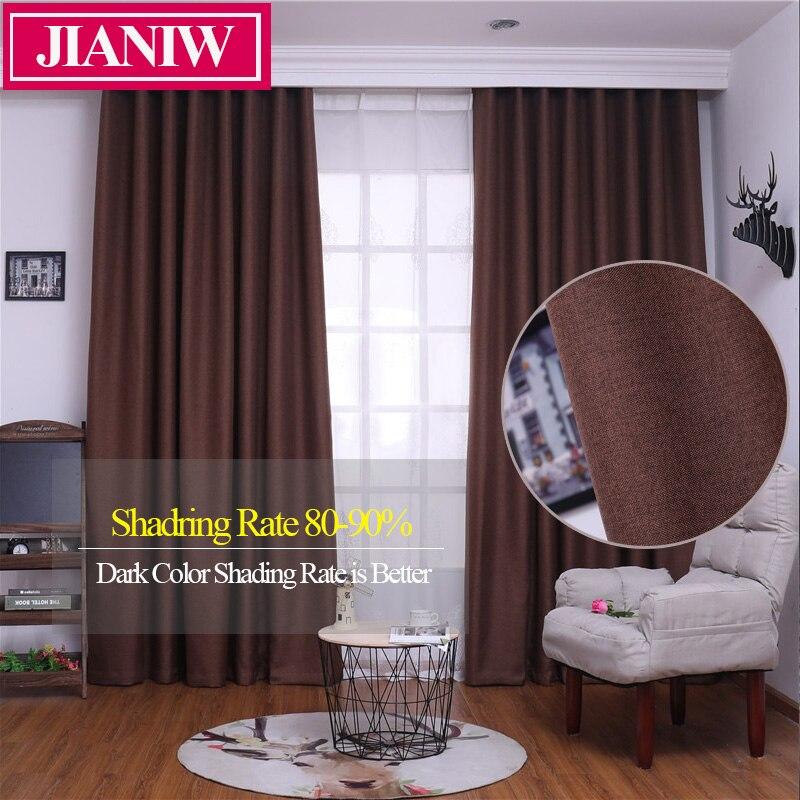 JIANIW, tratamiento de ventana de Color sólido, aislamiento térmico, cortina de oscurecimiento para sala de estar, cortinas para dormitorio, hechas a medida