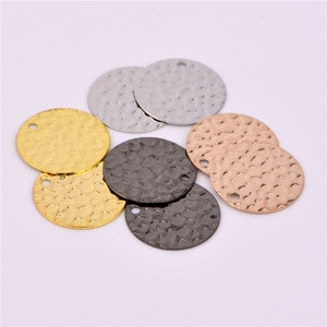 20 pieces  13mm wholesale simple coin style uneven necklace pendant wafer charm charm DIY making accessories
