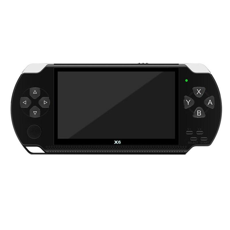 X6 4,3 дюймов портативная игровая консоль плеер игры 32 бит 8 гб поддержка для psp игры/видео/электронной книги с более чем 10000 бесплатных игр