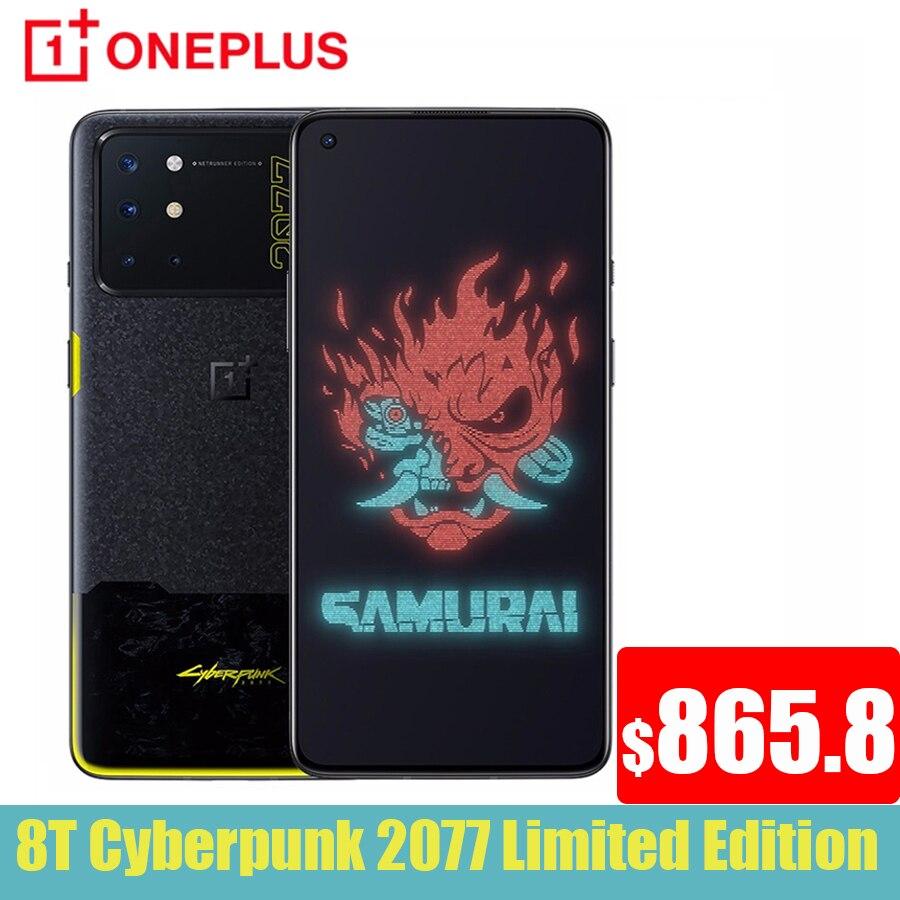 Перейти на Алиэкспресс и купить 2020 глобальная прошивка Oneplus 8 T Cybarpunk Ограниченная серия 5G мобильный телефон 65 Вт SuperCharge Snapdragon 865 активно-матричные осид, Экран One plus 8 T