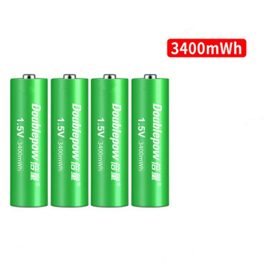 4 pçs/lote novo 1.5v 3400mwh aa bateria de lítio recarregável inteligente carga rápida por dedicado aa aaa carregador de bateria