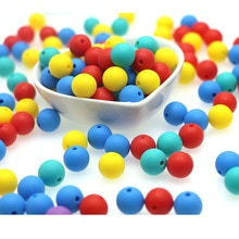 kovict 50pcs Silicone Beads 12mm Round Perle Silicone Dentition Baby Teething Beads For Jewelry Maki