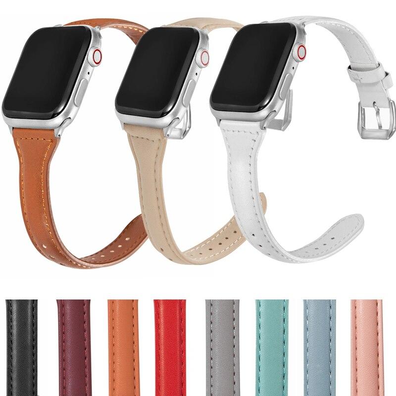 Ремешок для смарт-часов Apple Watch Band 40 мм 44 мм 38 мм 42 мм Series SE 654321, женский кожаный ремешок для часов ремешок для смарт часов eva ava001 для apple watch 38 мм розовый