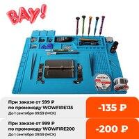Паяльная станция, рабочий теплоизоляционный магнитный коврик для ремонта телефонов, компьютеров с ESD и корпусом BGA