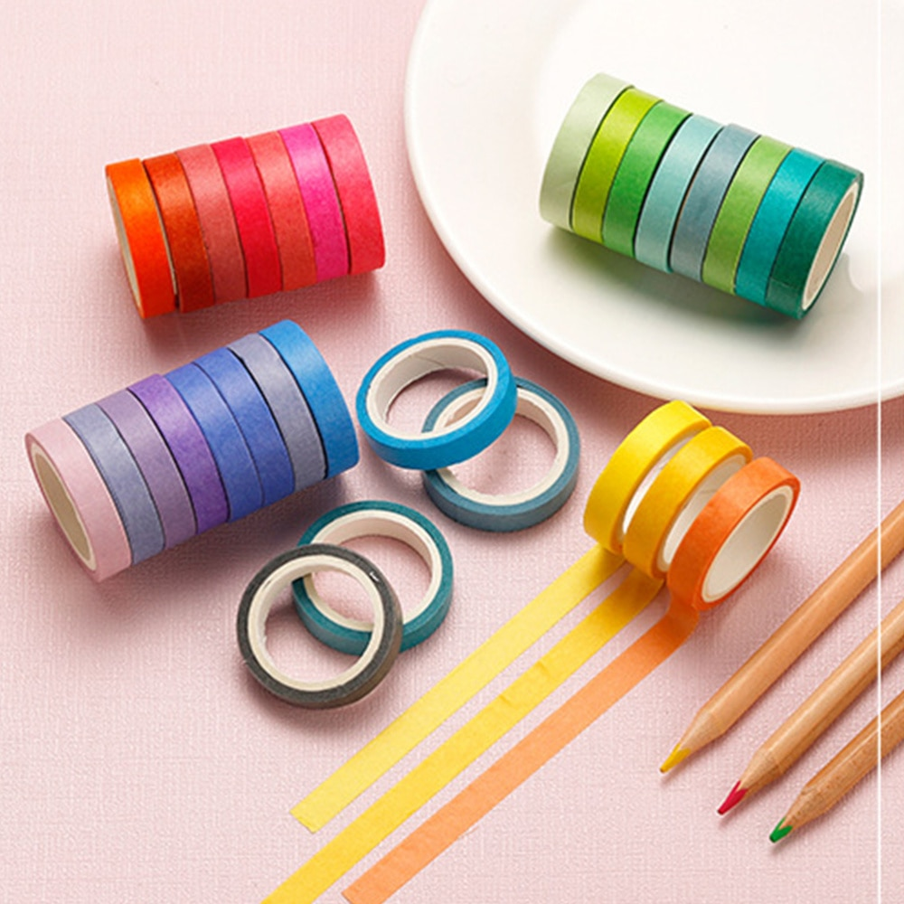 60 Roll Creative Washi Paper Tapes Stylish Decorative Stickers Lovely Tape Gift Packaging Tape for DIY