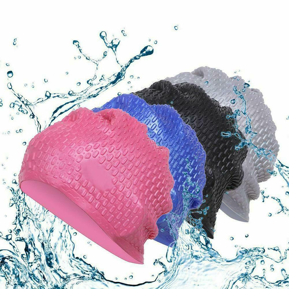 Ladies Silicone Swimming Cap High Elasticity Adult Swimming Cap Waterproof Ear Protection Elastic Swimming Cap Summer Diving Cap