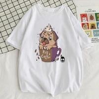 pug a coffee printing mens tshirts street comfortable t shirt high quality slim t shirts style breathable mens short sleeve