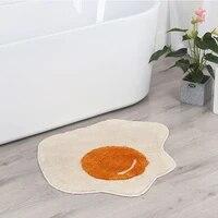 cartoon poached egg flocking floor mat carpet bathroom absorbent floor mat bathroom non slip floor mat entrance door mat carpet