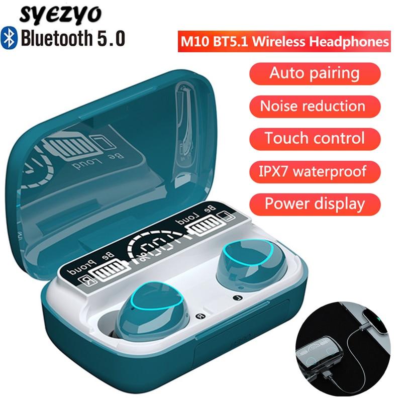 M10 TWS Wireless Headphones Bluetooth Music Earphones IPX7 Waterproof Sports Earbuds HIFI Stereo Headset Works On All Smartphone