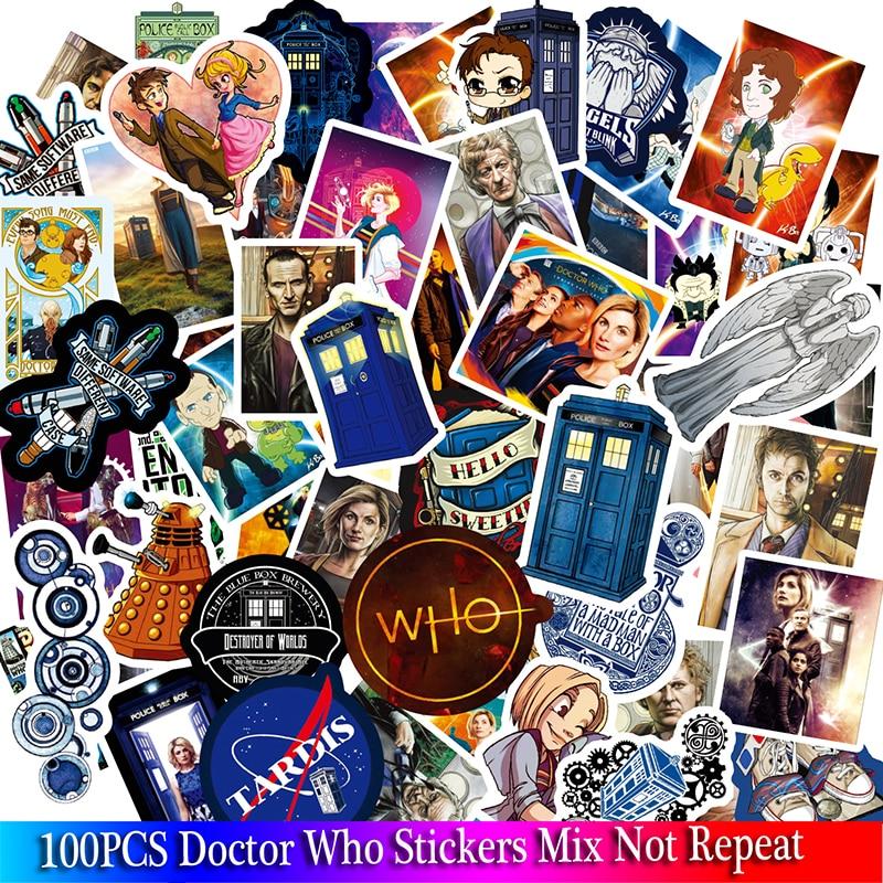 100PCS Doctor Who Aufkleber TV Serie Für Gepäck Auto Laptop Notebook Aufkleber Skateboard Kühlschrank Aufkleber Cartoon Aufkleber