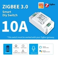Module de commutateur Wifi intelligent Tuya Zigbee  disjoncteur domotique  fonctionne avec lassistant Alexa Google Home  10A