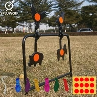 4 animal shapes tactical hunting airgun plinking target for airsoft paintball bb 177 shooting target plates practise