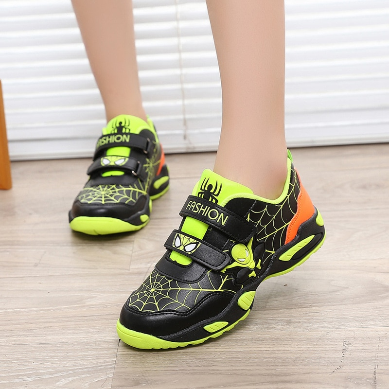 Disney children shoes Spiderman fashion new boy Korean version of the trend of comfortable non-slip breathable sneakers for kids