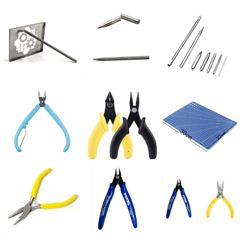 Tool for 3D Metal Puzzles Assembly Nipper Scissors Long Nose Pliers Tweezers Pencil Sharpener Buckle