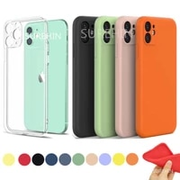soft cover for apple iphone 12 mini case transparent black blue pink yellow matte clear silicone case for iphone 12 mini cover