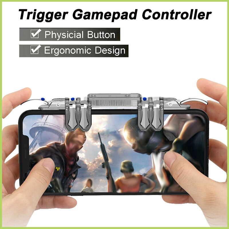 TZS Trigger Gamepad Controller Sensitive Touch L1 R1 Fire Button Shooter Grip Trigger Aim Key Joystick For IOS Android