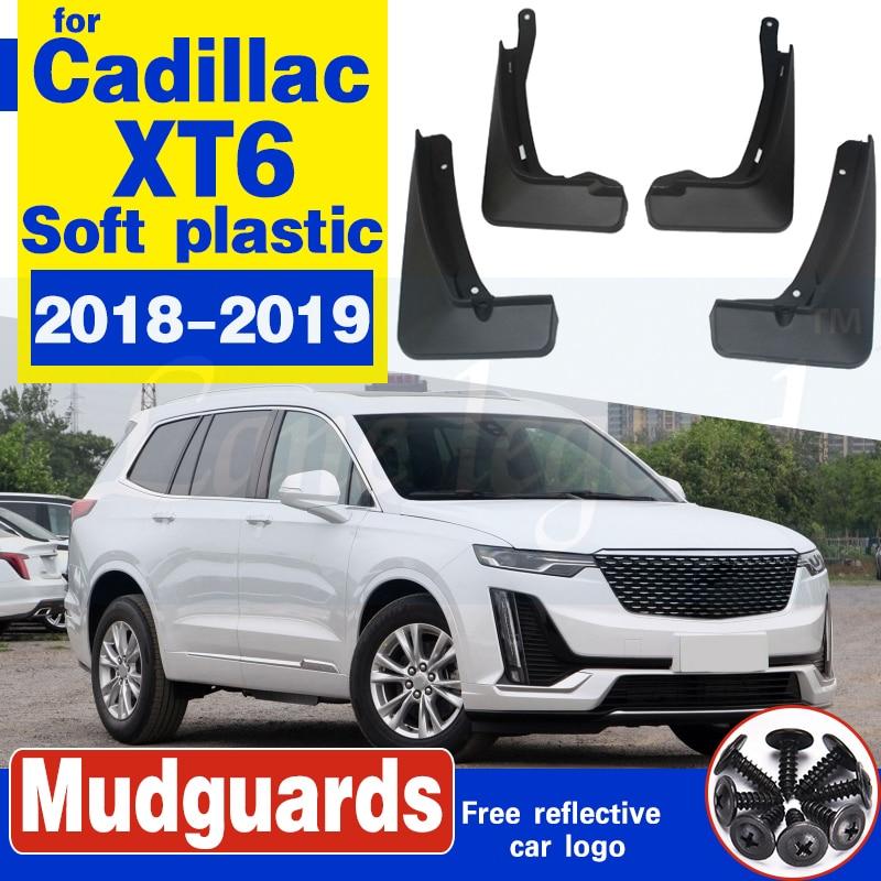Car Front Rear wheel Mudflap for Cadillac XT6 2018 2019 Fender Mud Flap Mudflaps Splash Guard Mudguards Soft plastic Accessories