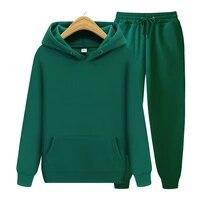 mens sets hoodiespants autumn winter hooded sweatshirt sweatpants fashion slim fit men set hoodie pant hip hop pullover hoody