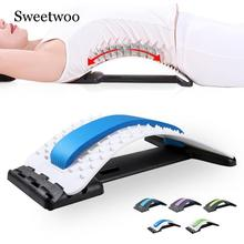 Spine Pain Relief Lumbar Traction Device Stretching Waist Spine Relax Back Massage Board Prevention