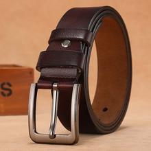 Cinturones de talla grande para hombre, cinturones de cuero genuino de alta calidad con hebilla larga de Pin grande, 110, 120, 130, 140, 150, 160, 170cm