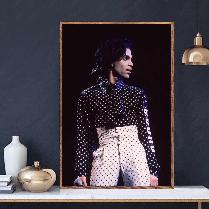 Príncipe Rogers Nelson cantante música estrella arte seda cartel hogar pared decoración (sin marco)