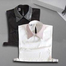 Élégant faux col chemise femmes détachable col revers chemise cravate faux col Peter Pan Kragen Sahte Yaka Kraagje Nep Dames