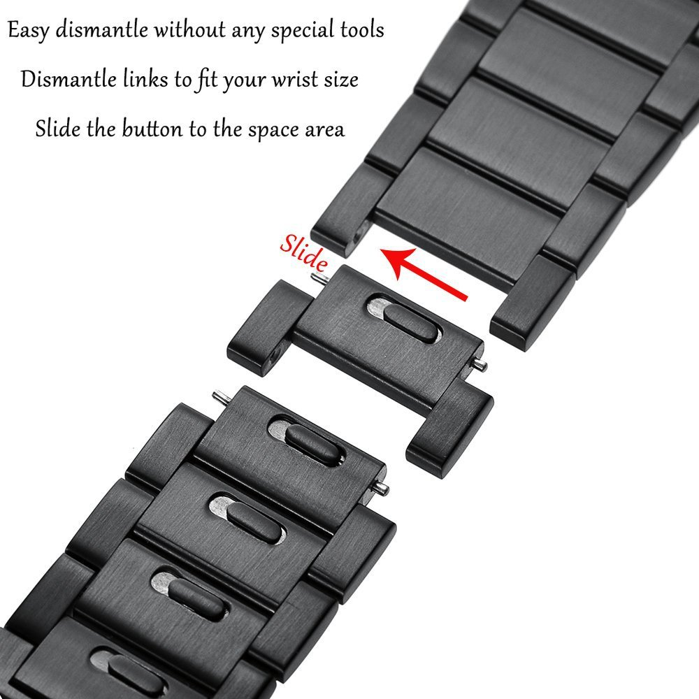 Metal Strap Compatible with Samsung Galaxy Watch 3/Huawei Watch GT2/Amazfit GTR Quick Release Bracelet Wrist Strap for 22mm Band enlarge