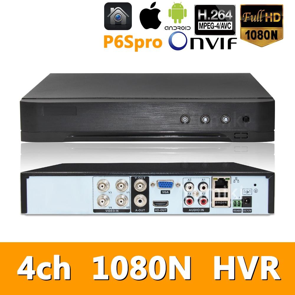 5in1 4ch*1080N AHD HVR Surveillance Security CCTV Video Recorder Hybrid DVR For 720P/960H Analog AHD CVI TVI IP camera P6SPRO