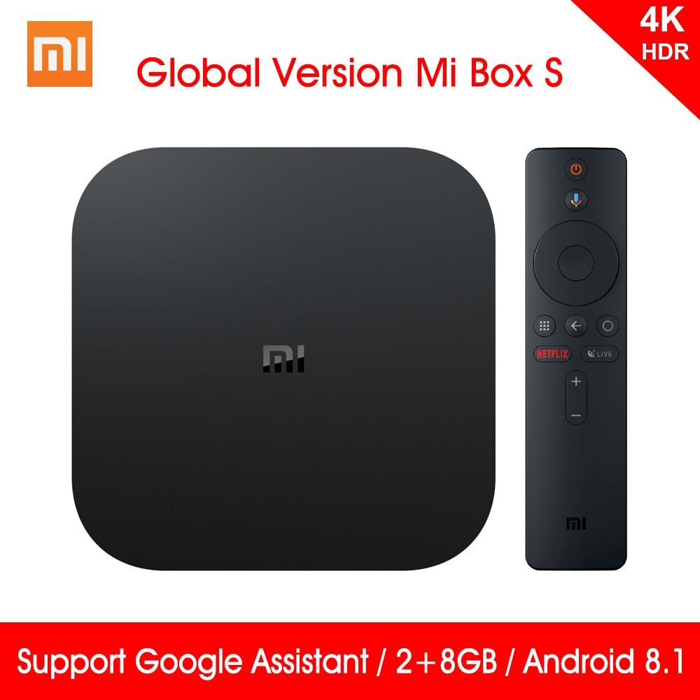 Global Version Xiaomi Mi Box S 4K HDR Android TV Box Google Assistant Quad Core 2GB+8GB Playback At 60fps IPTV Smart MiBox S