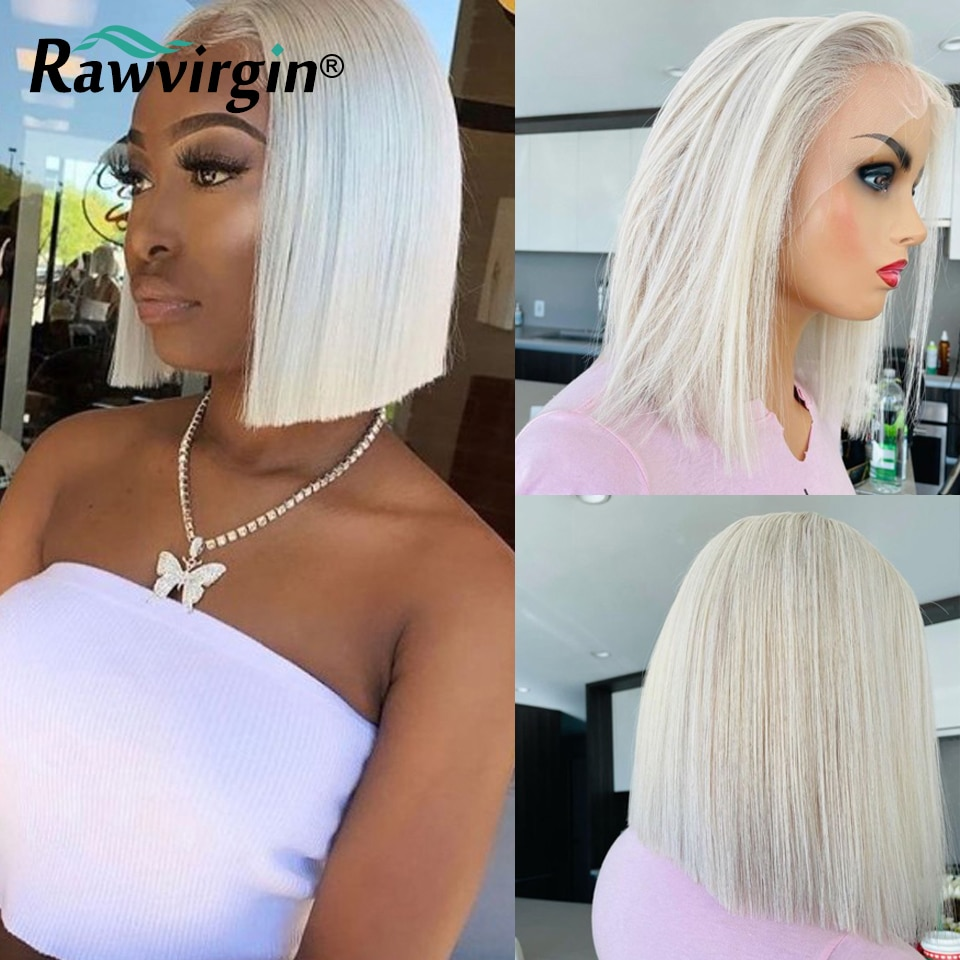 60 HD Lace Wigs For Women Human Hair Striaght 613 Lace Frontal Wig Bob Wig Lace Front Human Hair Wigs Honey Blonde Colored Wigs