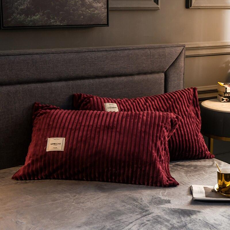 غطاء وسادة من الفلانيل الناعم والدافئ ، غطاء وسادة عصري بسيط ، أغطية وسائد عالية الجودة للمنزل