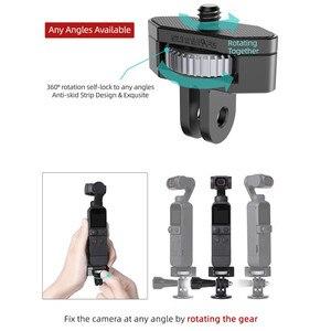 Image 2 - Металлический адаптер для крепления камеры регулируемый велосипедный фиксированный держатель зажим 1/4 винт для DJI OSMO Pocket 2 Insta360 ONE X2 аксессуары для камеры s