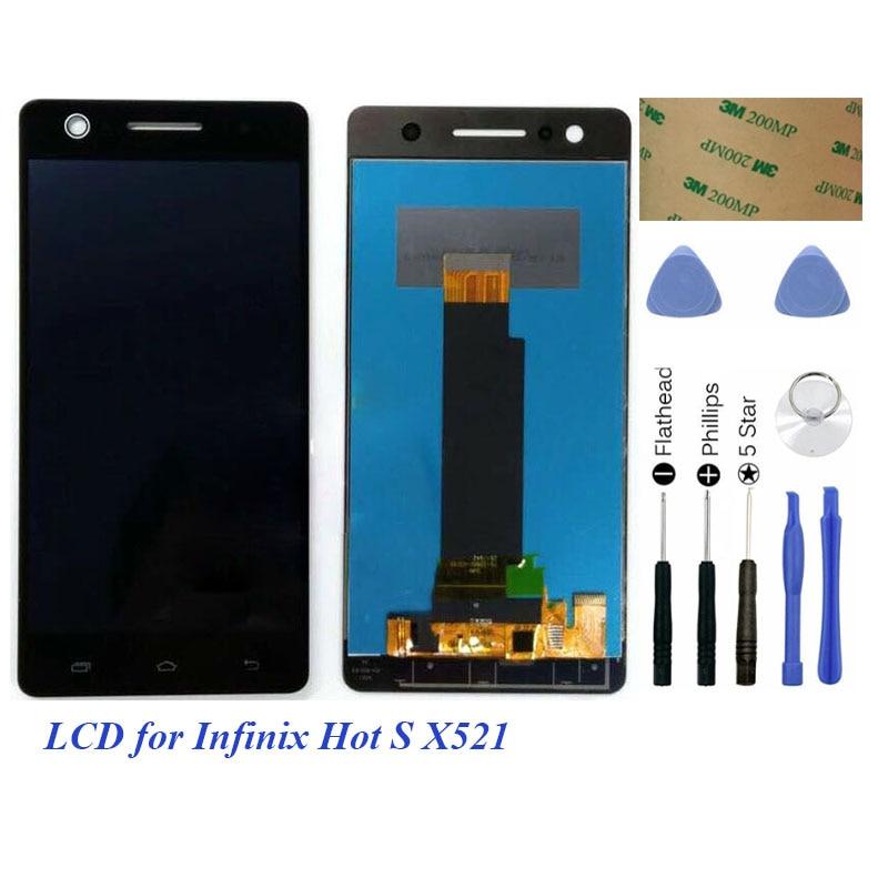 Lcd para Infinix Hot S HotS X521 LCD pantalla táctil para Infinix X521 LCD digitalizador montaje completo