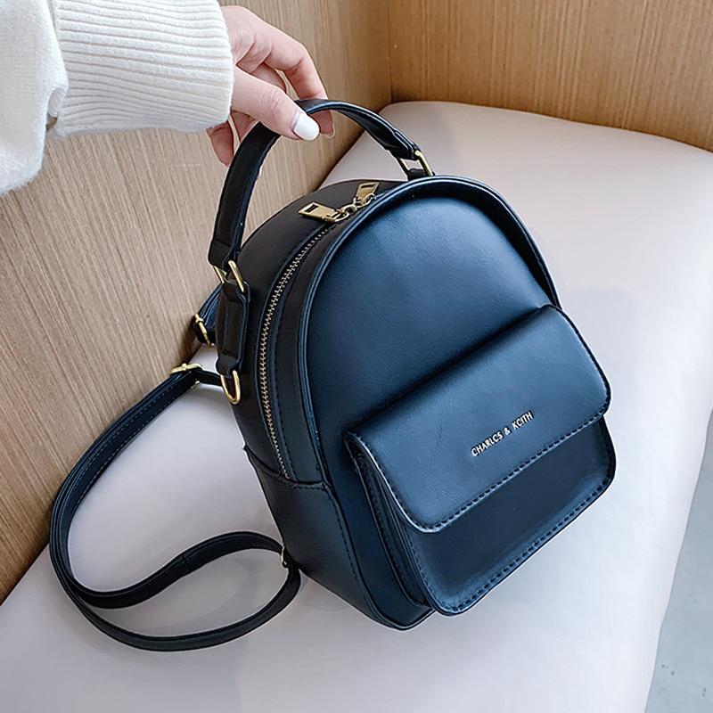 حقيبة ظهر نسائية من جلد البولي يوريثان ، حقيبة ظهر للمراهقات ، حقيبة مدرسية حيوانات لطيفة ، حقيبة صغيرة ، مجموعة جديدة 2020