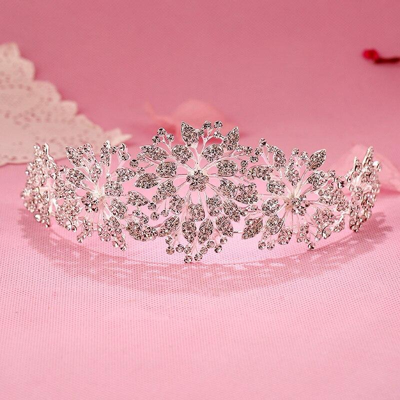 Diadema de novia con corona de moda, Tiaras de novia, accesorios para el cabello de boda barrocos, tocado, Tiara de boda y corona para mujer