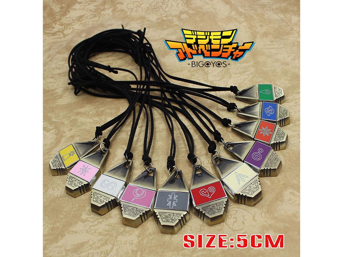 Digimon Adventure Digital Monster Courage/Friendship/Love/Hope Evolution значок магнитный кулон ожерелье веревка коллекция подарок