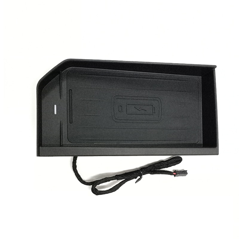 Cargador inalámbrico Qi de 15W para Range rover evoque aurora 2015 2016 2017 2018 2019, soporte para panel de placa de teléfono de carga rápida