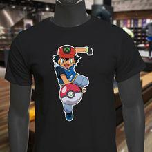 Muñeco bola Ash Pok mon negra para hombre Camiseta