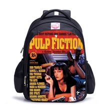 16 Inch Pulp Fiction Backpack Kids Boys Girls School Shoulder Bags Daily Bags Teenager Student Colle