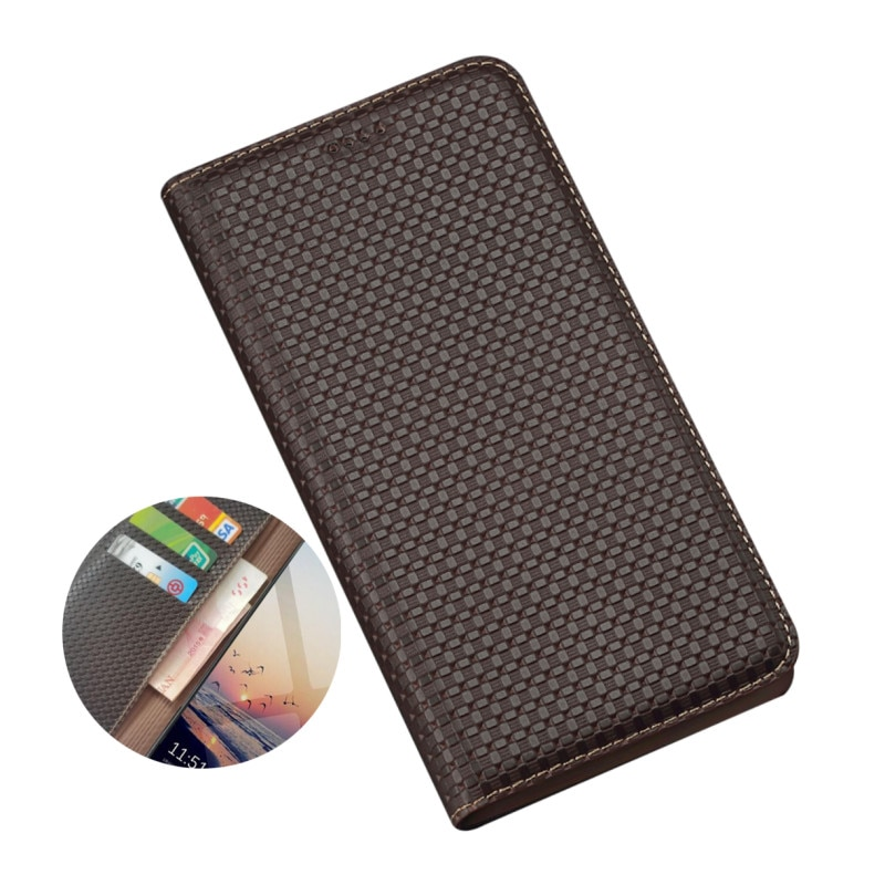 Carteira de couro genuíno saco do telefone slots titular para xiaomi pocofone f1/xiaomi poco f2 pro coldre caso capa suporte funda