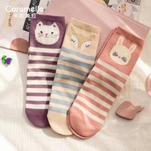 Caramella Cartoon Tube Socks Cute Wild Cotton Socks Women Ins Trendy Socks Autumn and Winter Socks W