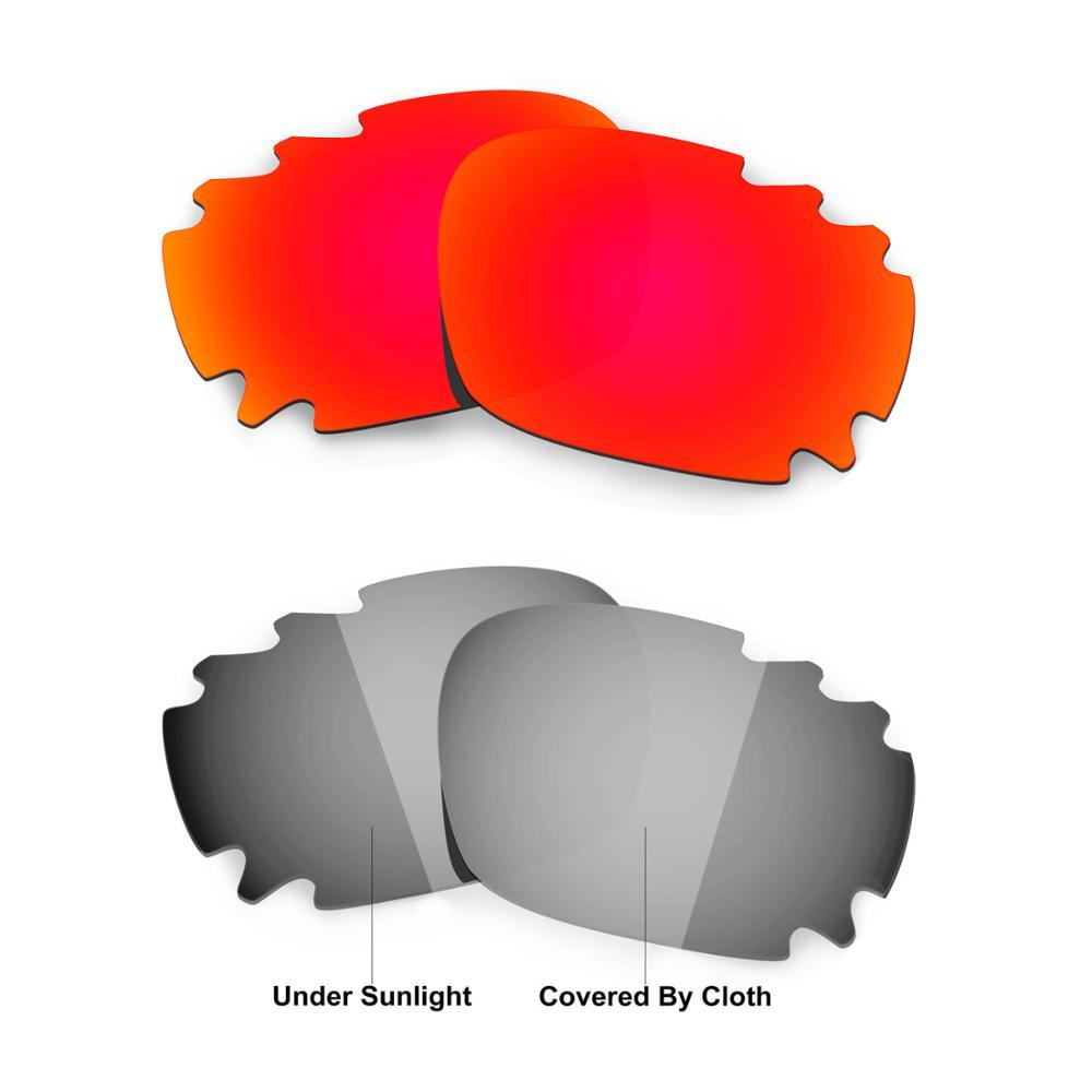 HKUCO ل سباق سترة-الآسيوية صالح منفس النظارات الشمسية استبدال العدسات المستقطبة 2 أزواج-الأحمر و الانتقال اللونية