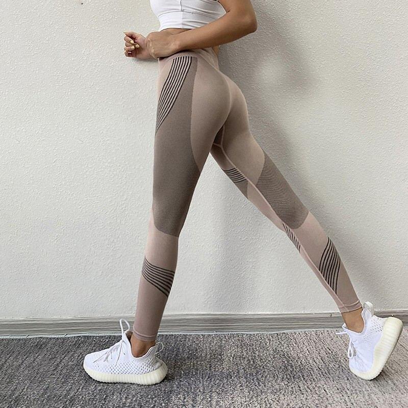 Женские штаны для фитнеса, бега, йоги, энергетические бесшовные леггинсы, Леггинсы для спортзала, йоги, высокая талия, пуш-ап, спортивные шта...
