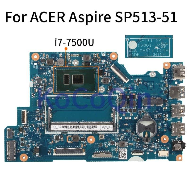 Placa-mãe para notebook acer aspire, 5 modos, placa principal sr2zv, ddr4, 16801-1