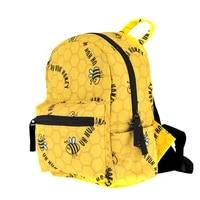 cartoon bee print backpack mini cute girl school bag for teen 1 5 grade small travel bag women backpack anime